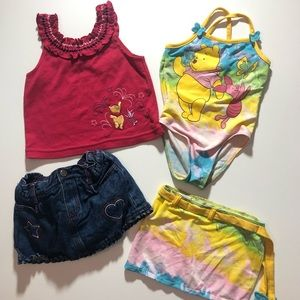 3T Disney Pooh Bear & Piglet Summer Clothes & Swim
